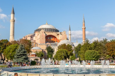 Hagia Sophia from the courtyard fountain