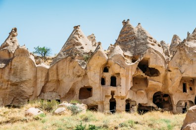 Enjoying the opportunity to climb and explore the Zelve Open Air Museum in Cappadocia