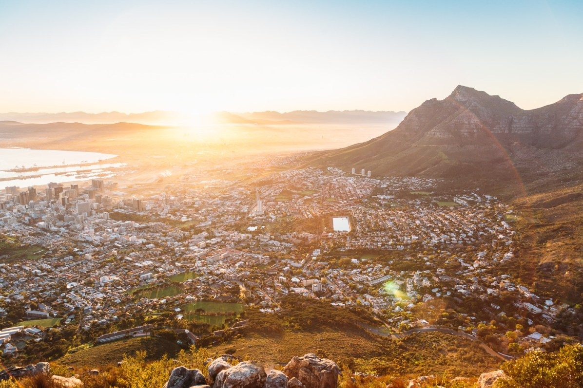 Reaching the summit of Lion's Head in time for sunrise over the city bowl