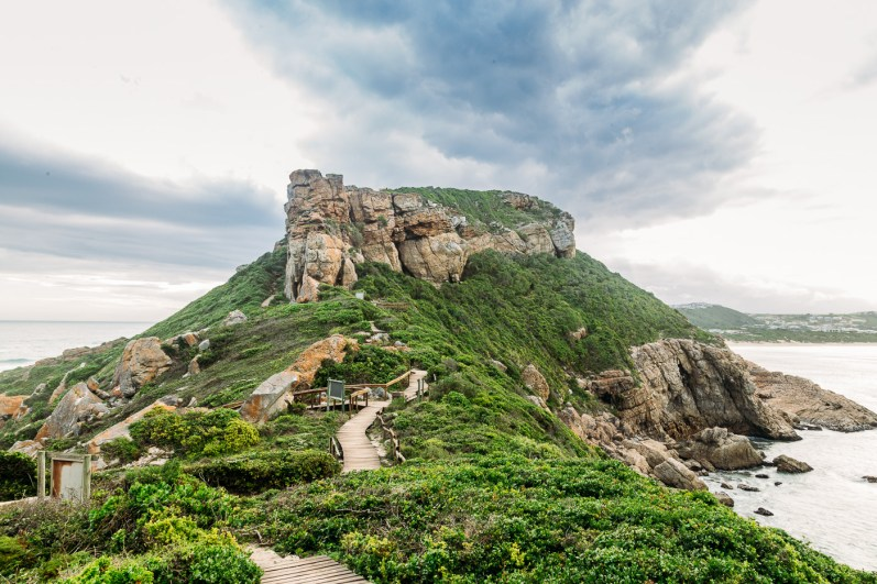 The view from the top of the peninsula of Robberg Nature Reserve