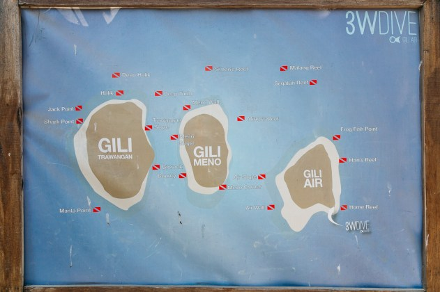 Gili Islands dive sites in Lombok, Indonesia