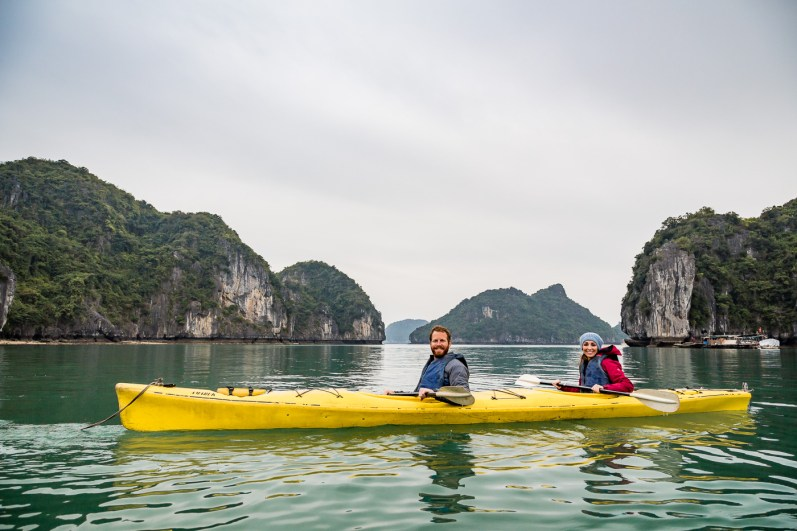 Only us and the open sea as we explore Bai Tu Long in the Gulf of Tonkin