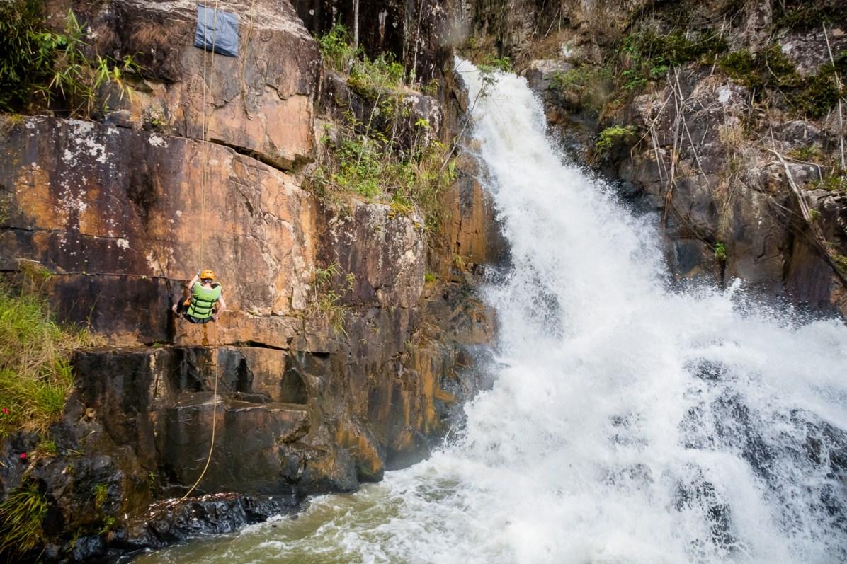 First waterfall at Datanla waterfalls canyoning Dalat