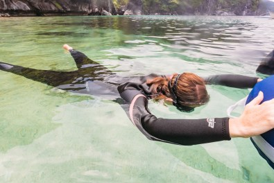 Static apnea practice while learning to free dive in the Philippines