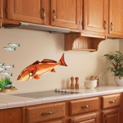Decorating Kitchen Walls Porcelain Floor Redfish Wall Decal Red Drum Bold Art