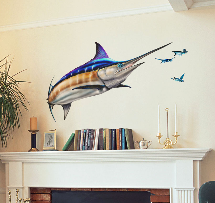 Blue Marlin Wall Decal