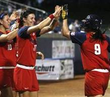 US Softball Avenges Soccer World Cup Loss, Beats Japan