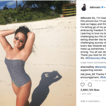 Demi Lovato feels 'insecure' about her legs, but posted this beach photo regardless
