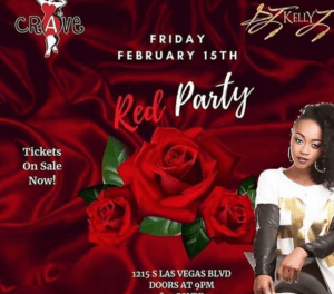 Crave, Las Vegas Hosts Red Party for Valentine's Day Weekend