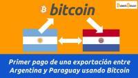 Primer pago de una exportación entre Argentina y Paraguay usando Bitcoin