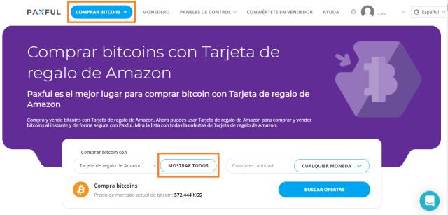 comprar bitcoins con tarjetas regalo en paxful