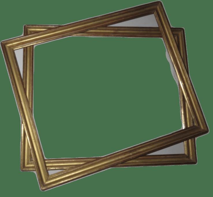 paire de cadres epoque 18eme louis xvi en bois dore