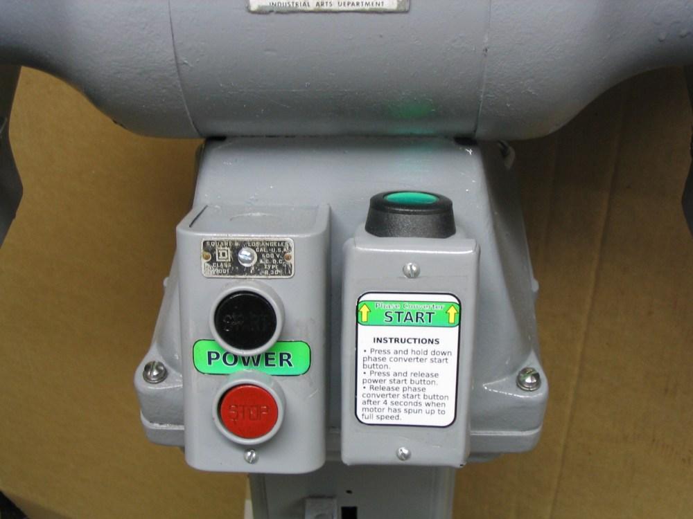 medium resolution of 3 phase motor static phase converter start buttons