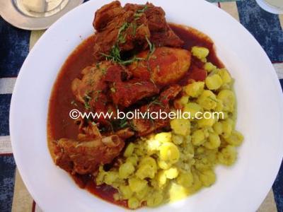 Cocina Boliviana Asado Ala Olla