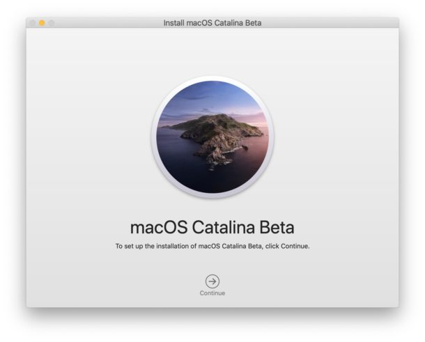 Install the MacOS Catalina Beta monitor