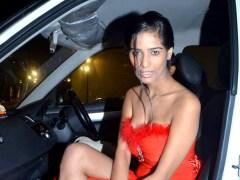 Poonam-Pandey-Arrested-Car