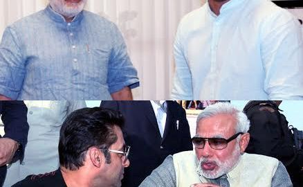Salman Khan, Vivek Oberoi, Narendra Modi