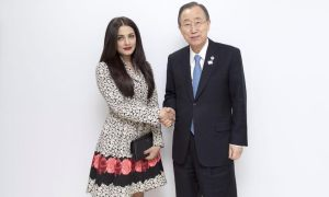 Ban Ki moon, Celina Jaitly, Dubai