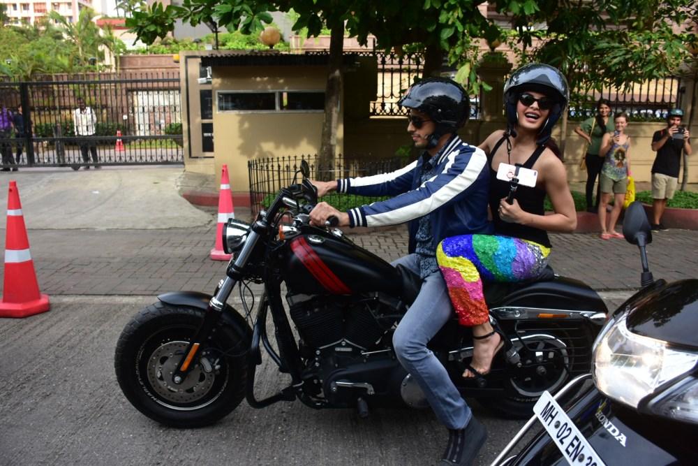 Sidharth Malhotra, Jacqueline Fernandez, Monsoon, bike ride, A Gentleman