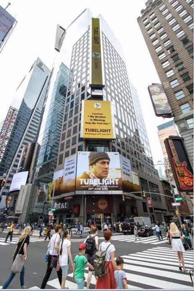 Salman Khan's Tubelight becomes the FIRST BOLLYWOOD MOVIE to be featured on Times Square NYC's hoardings -1