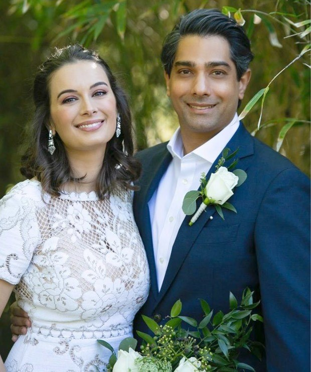 Evelyn Sharma ties the knot with Tushaan Bhindi in private ceremony in Australia, dons Rs. 1.2 lakh wedding gown