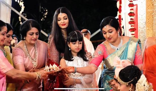 Aishwarya Rai-Abhishek Bachchan and Aaradhya Bachchan have a blast at Shloka Shetty's wedding; Aaradhya consoles aunt at her bidaai