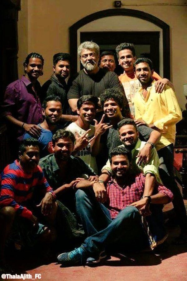 Have you checked out these pics of Thala Ajith with his fans on the sets of Viswasam?