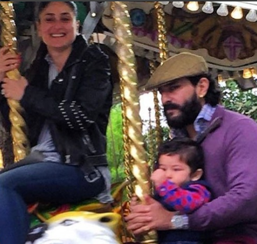 Kareena goes back to being a child as she enjoys an amusement ride with Taimur in London!