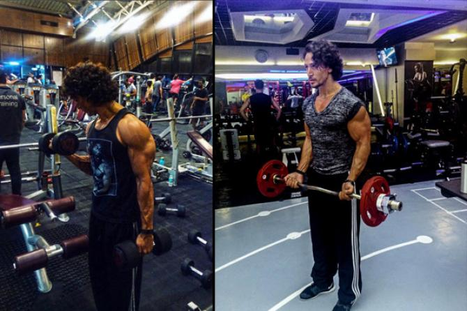 tiger shroff workout body building