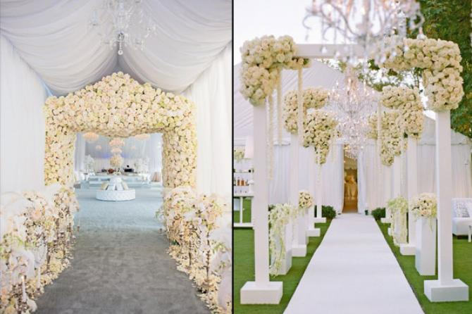 10 Wedding Decor Ideas For The Main Entrance Of The