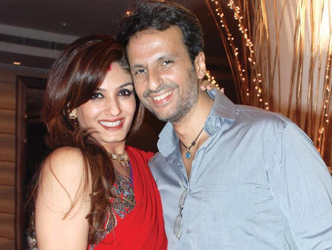 Raveena Tandon with husband-Bollywood Celebrity