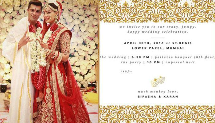 10 Geous Celebrity Wedding Invites For Couples Who Want People To Remember Their Shaadi