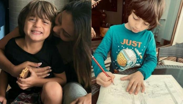 Gauri Khan Shares A Picture Of AbRam Khan Reading A Book By Karan Johar, In Their Lavish Balcony