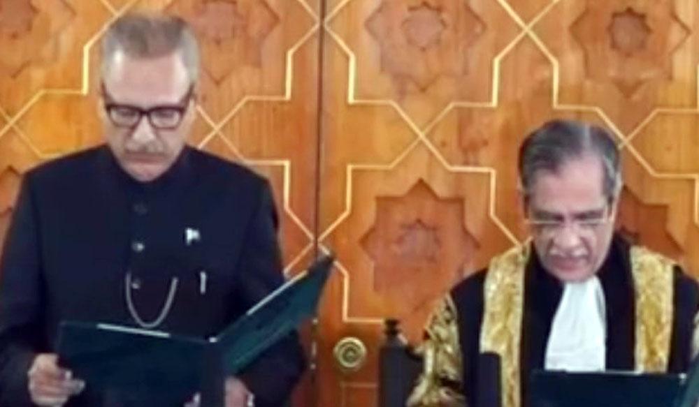 ڈاکٹر عارف علوی نے صدر پاکستان کا حلف اٹھا لیا