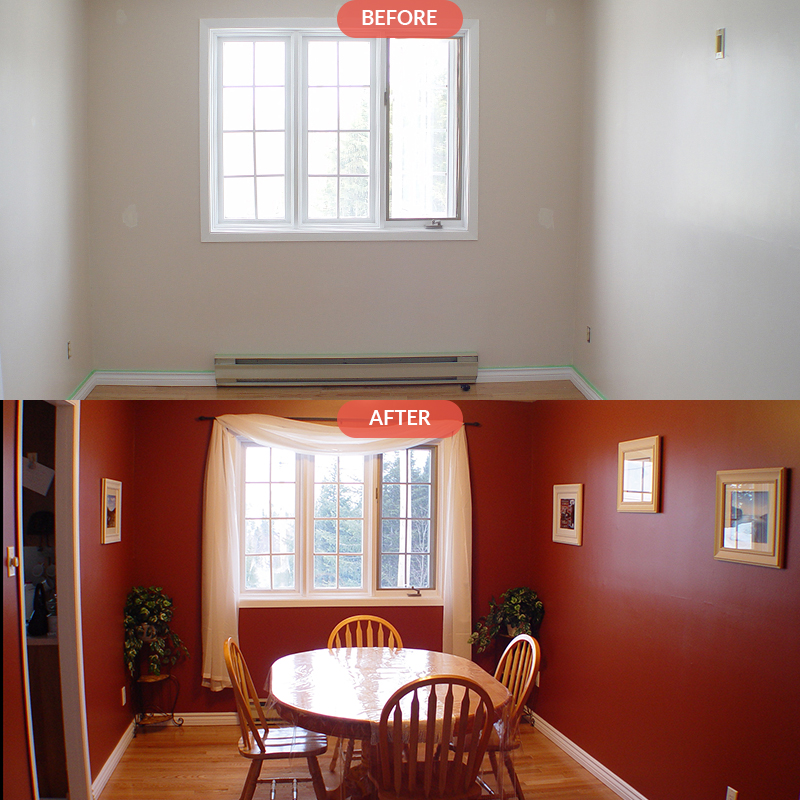 DINING ROOM PAINTING Clinton Hill Brooklyn NYC