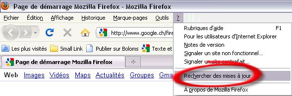 Mise à jour de Firefox