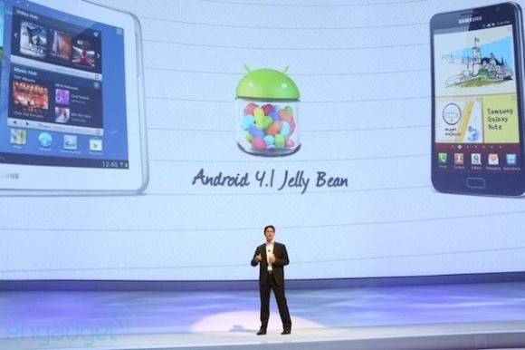 android 4.1 jelly bean galaxy S3 galaxy note 10.1