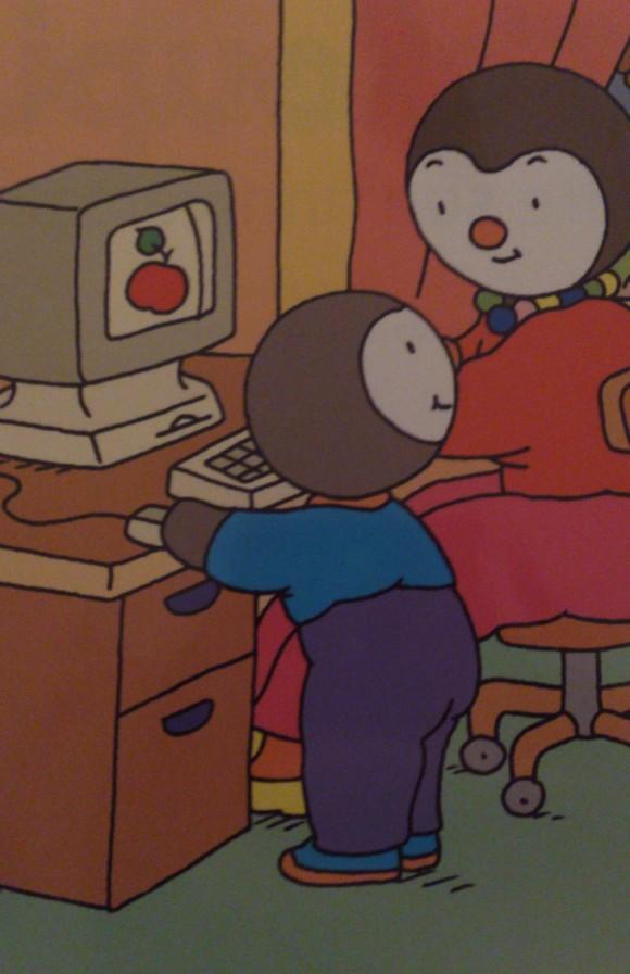 Tchoupi et son ordinateur Apple