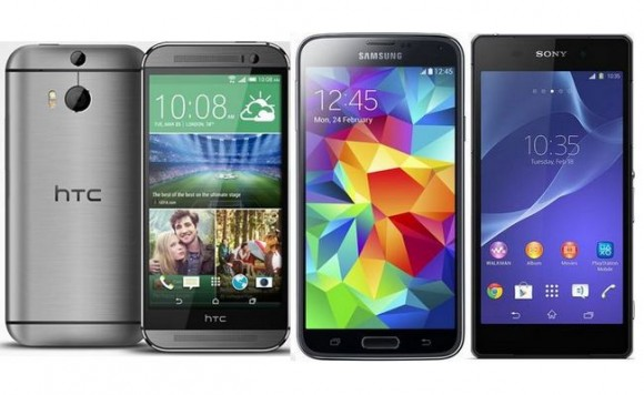 htc-one-m8-galaxy-S5-sony-xperia-z2-comparatif