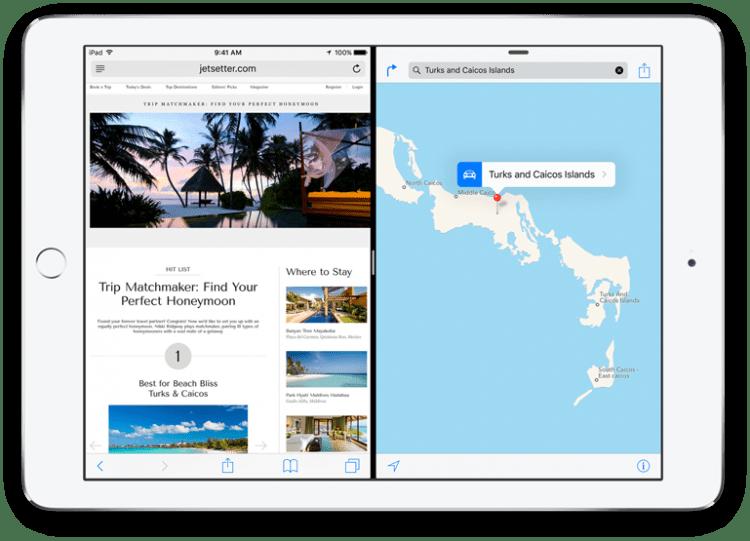 iPad multi-fenêtre