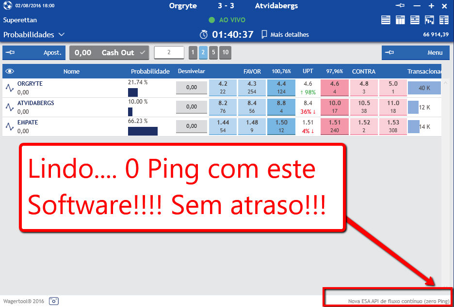 wagertool o software mais rápido para a Betfair