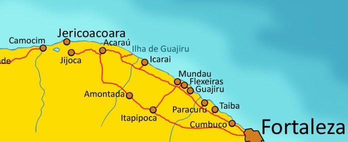 Roteiro Fortaleza Jericoacoara
