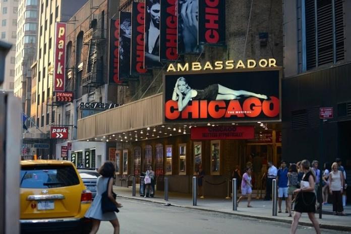 Um dos teatros da rede de espetáculos Broadway
