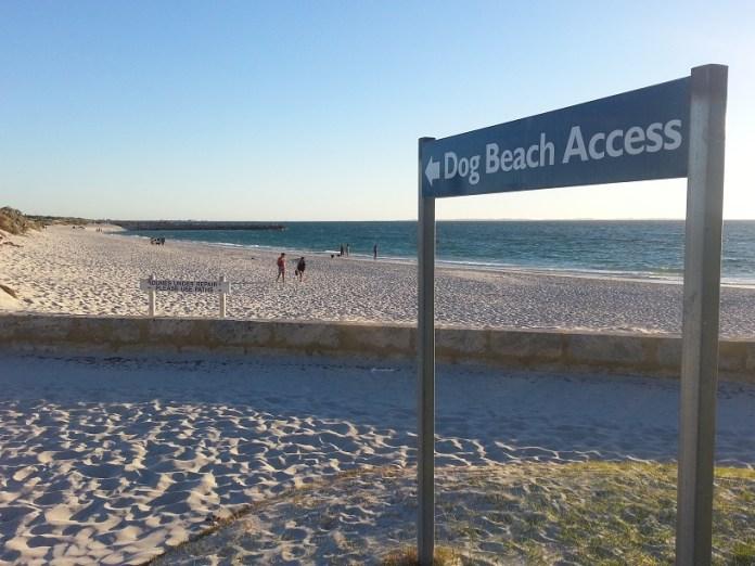 Uma das várias Dog Beach em Fremantle Perth City na Austrália