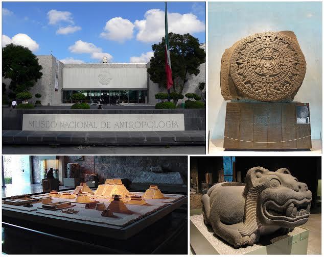 Museu Nacional de Antropologia na cidade do Mexico