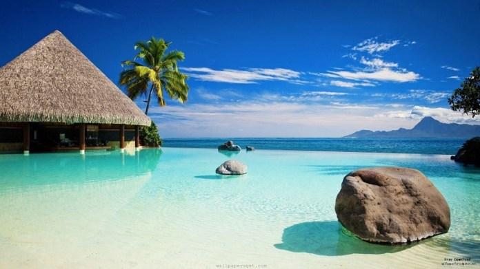 Paisagem linda de Bora Bora