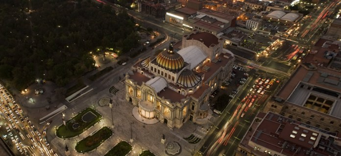 Palacio Bellas Artes na Cidade do Mexico