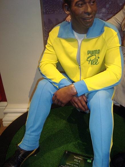 Pelé no Madame Tussauds em Londres