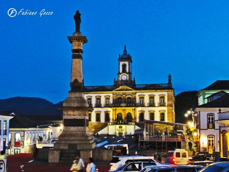 Praça Tiradentes, centro de Ouro Preto