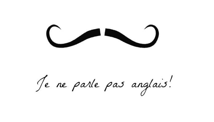 povo Francês não gosta de falar inglês